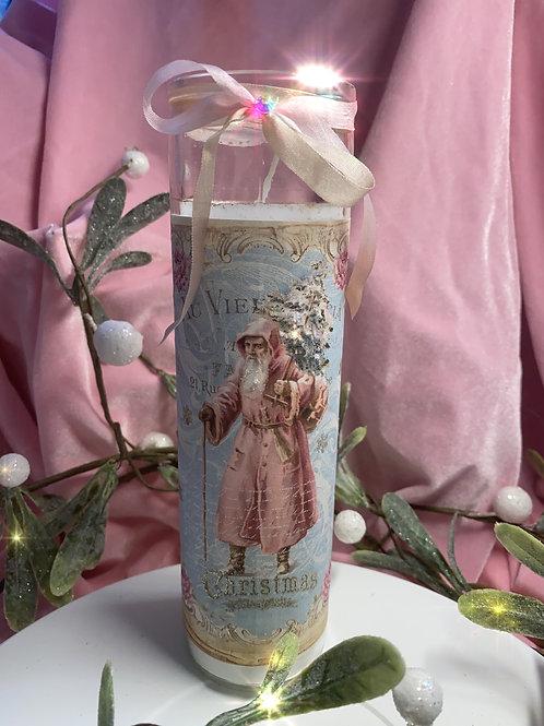 Pink vintage Santa