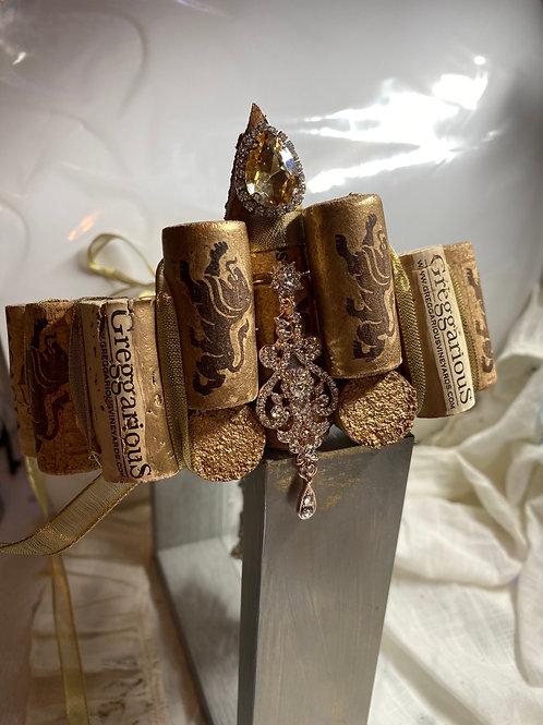 Rhinestone and cork crowns/headbands