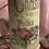 "Thumbnail: Candles , hand embellished vintage Christmas prints . 8"" tall"