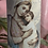 "Thumbnail: Candles , hand embellished vintage Christmas prints .8"" tall"