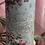 "Thumbnail: Candles, hand embellished vintage Christmas prints. 8"" tall ."