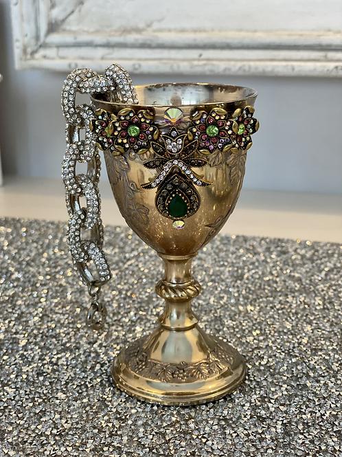 Vintage jeweled goblet