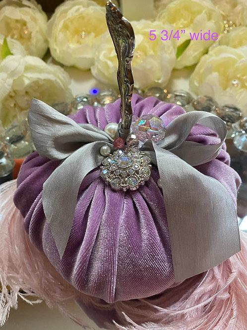 Lavender Velvet, vintage spoon stem