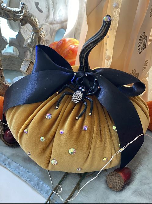 Gold velvet pumpkin