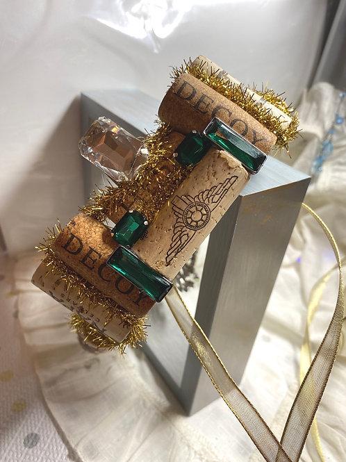 Rhinestone cork crowns/headbands