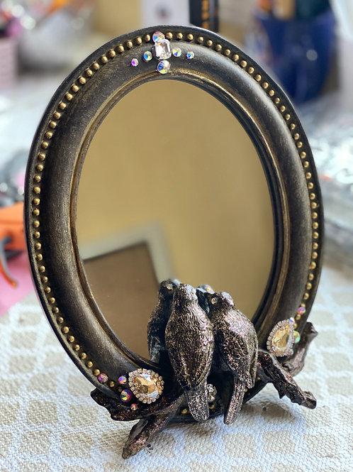 Love birds vanity mirror