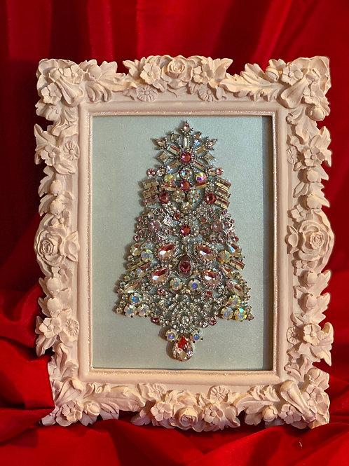 Pink jeweled Christmas tree