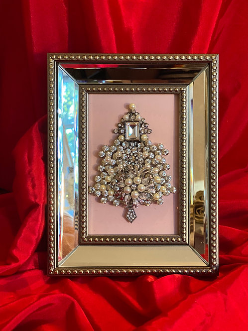 Pearl  rhinestone Christmas tree