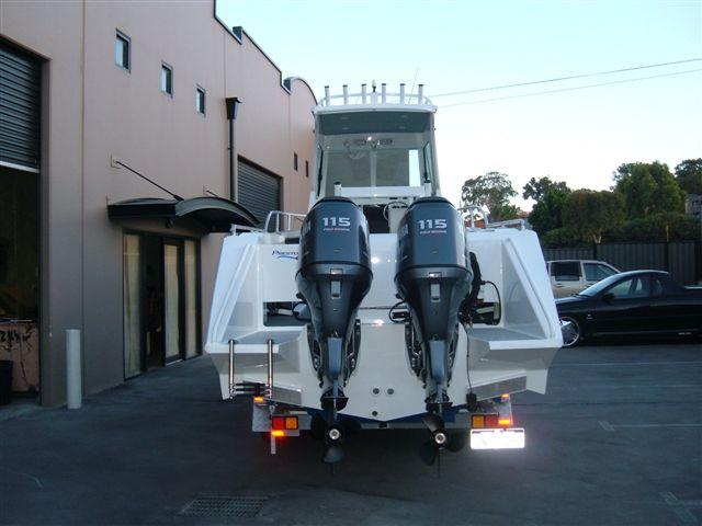 Motors: twin 115 Hp Yamaha 4 stroke