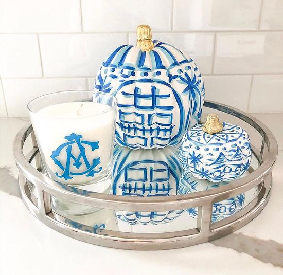 Blue white pumpkins 2