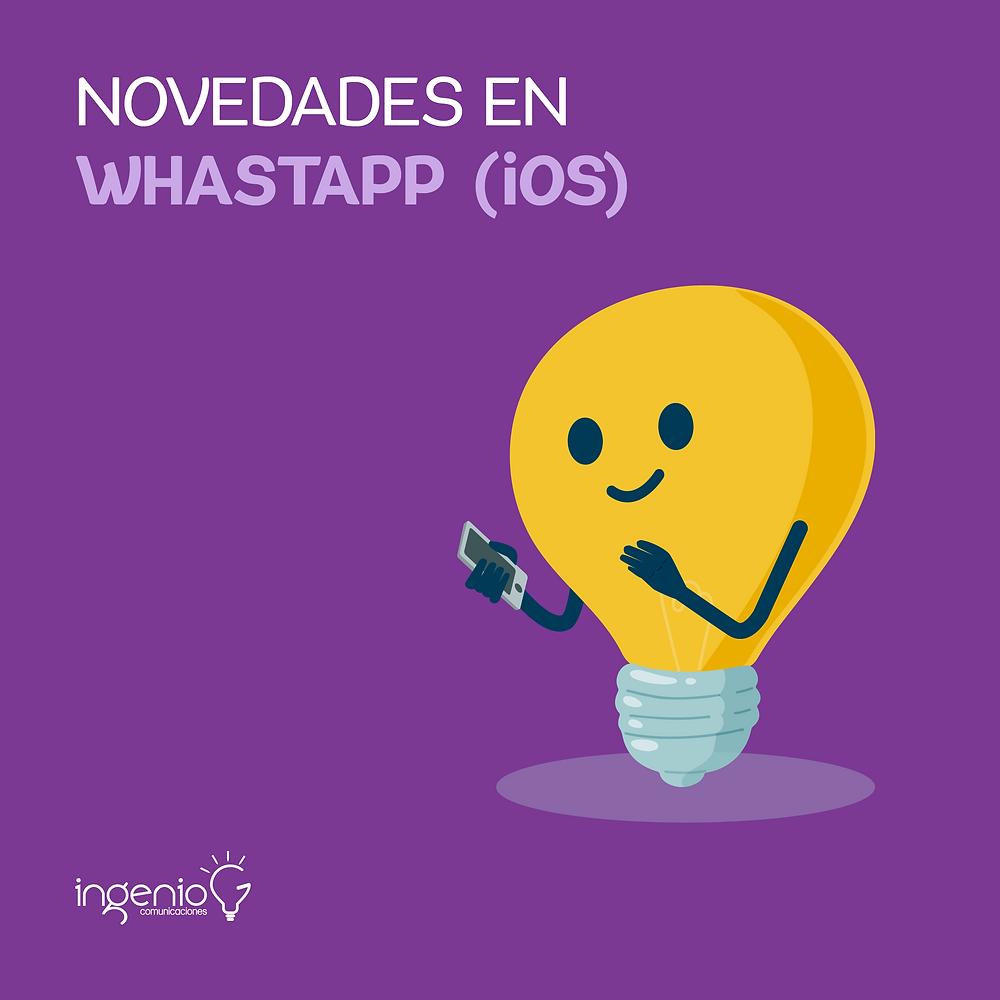 nuevas funciones de whatsapp para ios
