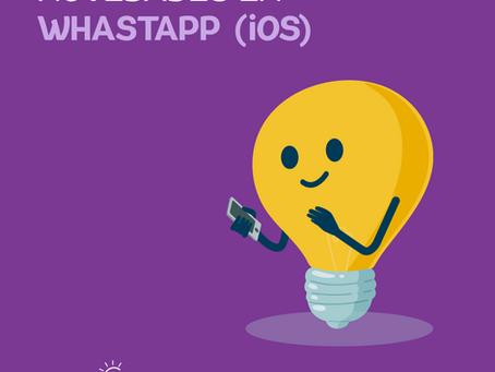 Nuevas funciones en Whatsapp para iOS