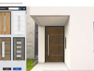 Quelle porte d'entrée convient à quelle maison? Le configurateur vous aide à choisir.