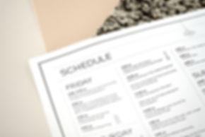 Wedding Schedule Design