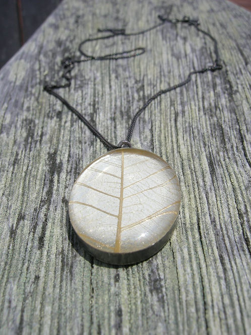 Skeleton Leaf Necklace