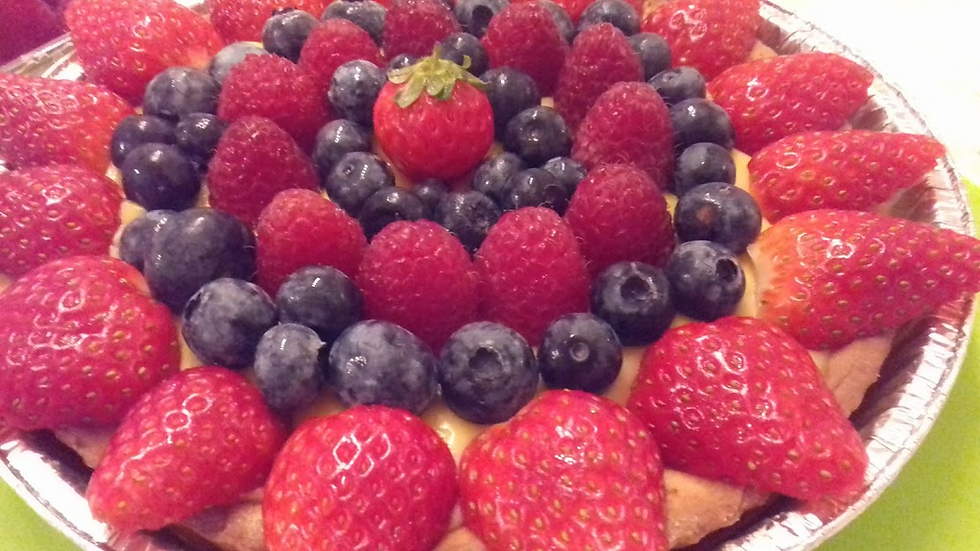 Custard & Fresh Fruit Tart