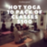 HOT YOGA TONIGHT AT 6PM WITH MATTHEW FOR