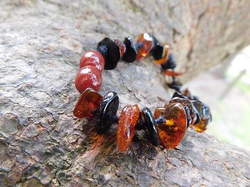 Genuine, Natrual Baltic Amber chip Baby/Kid Bracelet/Anklet