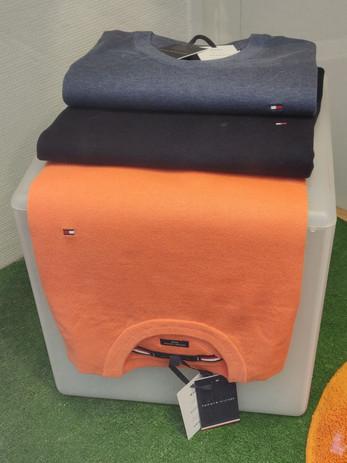 Pull coton_soie orange $6816- Indigo $68