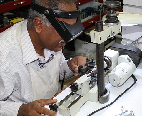 part fabrication on lathe
