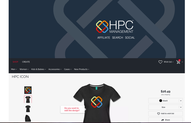 Affiliate Partners, want a FREE T'Shirt from HPC Management?