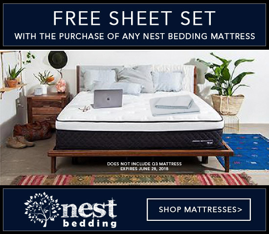 Nest Bedding® Free Set of Sheets with Mattress Purchase!
