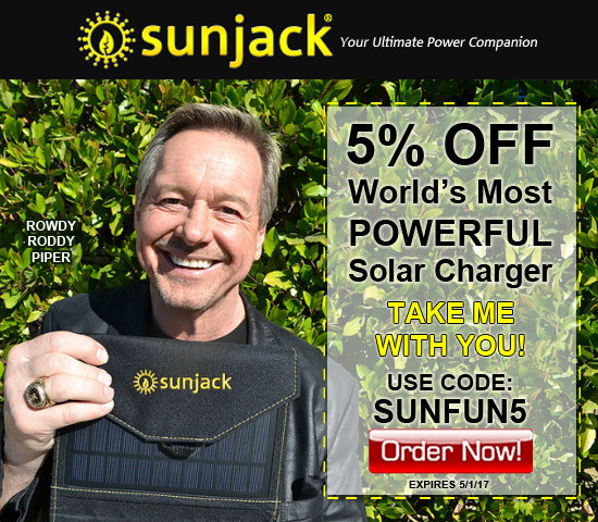 Rowdy Roddy Piper for SunJack NEW Spring Banners for Affiliates!