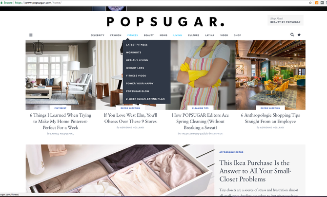 PopSugar - One of the Top 50 Blogs Online - So sweet!