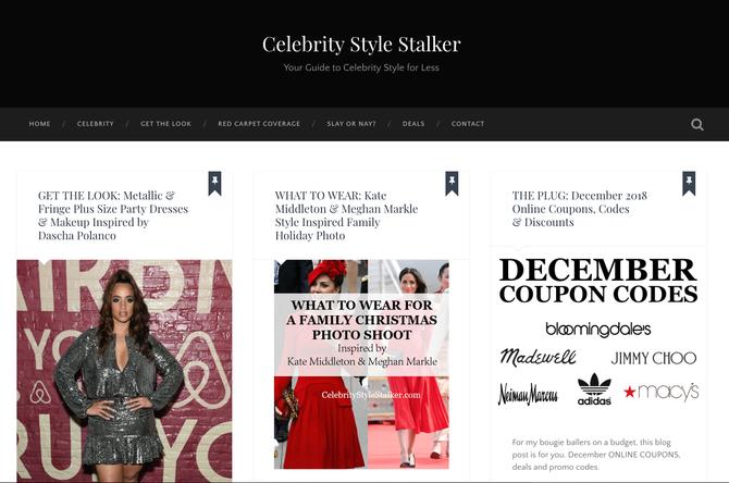 Affiliate Spotlight *The Celebrity Style Stalker
