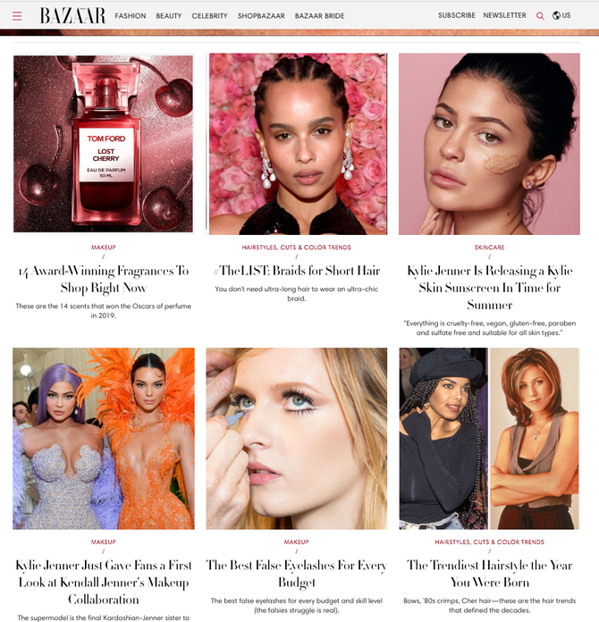 Super Affiliate Harpers BaZAAR - Beauty - Fashion - Celebrity