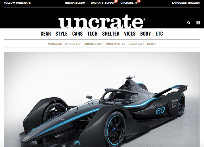 *Spotlight Publisher - UNCRATE - Men's Gear -Tech - Style...etc