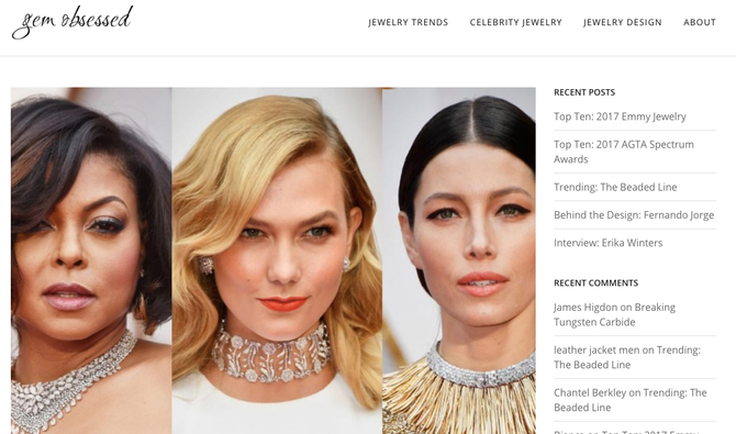 Gem Obsessed is a Gorgeous Jewelry Trends Blog, Celebrity Jewelry