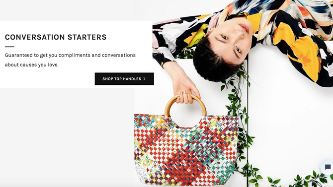 Fashionable Bags - Handcrafted out of Recycled Plastic