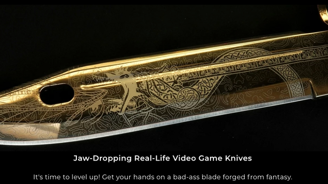 Jaw Dropping Video Game Knives Brought To Life! - Influencers Check This!