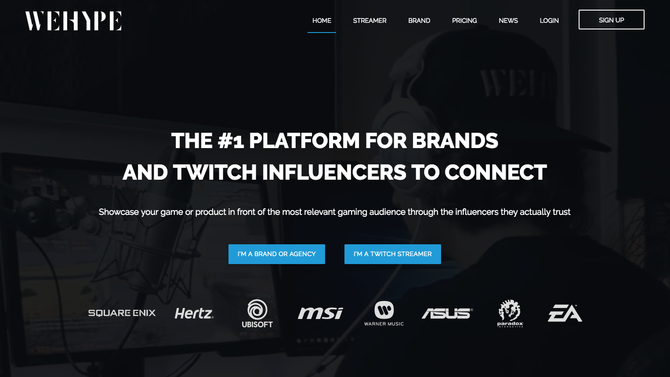 WEHYPE - Influencer Marketing Platform for Twitch -
