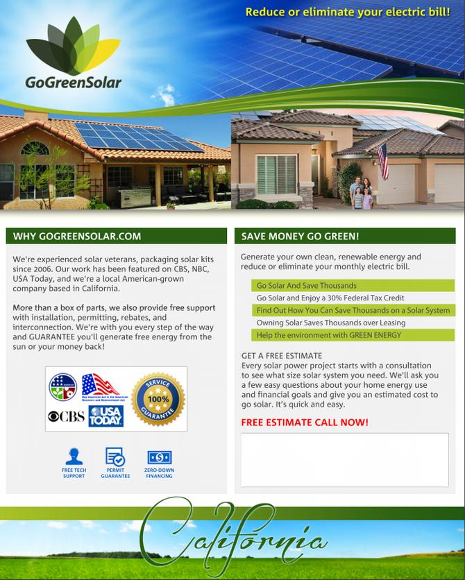 GoGreenSolar Affiliate Program - Hey California Affiliates!