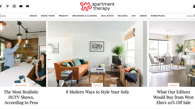Super Affiliate *Spotlight* Home Decor Site - Apartment Therapy!