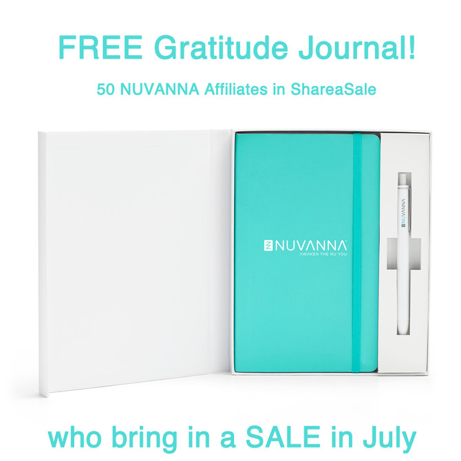 FREE Gratitude Journal Contest for Nuvanna Affiliates in ShareaSale!