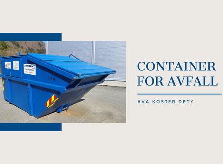 Hva koster det å leie en container?