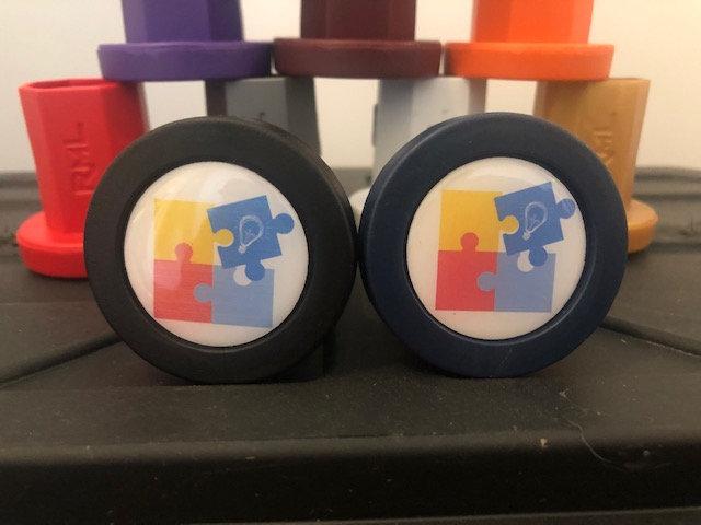 Rocket Mesh Tape Saver Butt End w/Autism Logo
