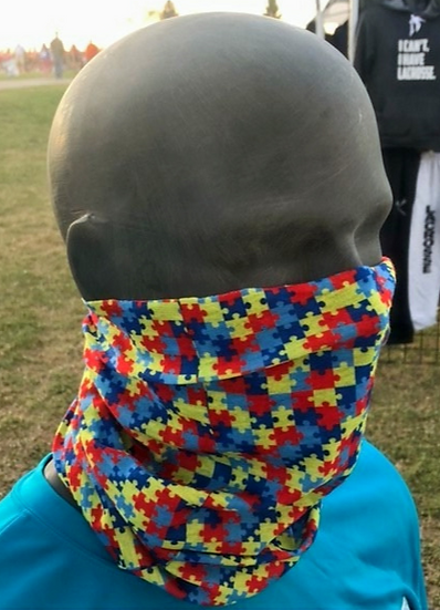 Autism Inspired Puzzle Face Shield by S/A Co .