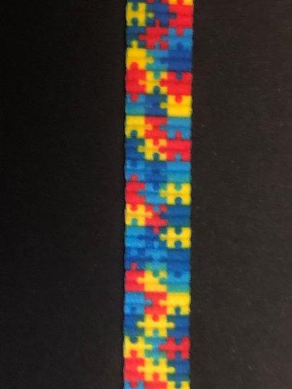 Autism Awareness Puzzle Shoe Lace (Pair)