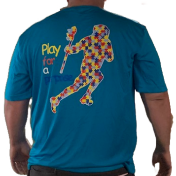 Autism Puzzle Player Tee (Atomic Blue)
