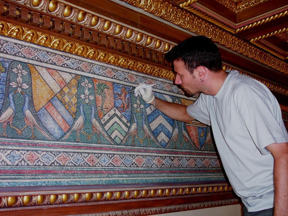 Ceiling Frieze fresco after.jpg