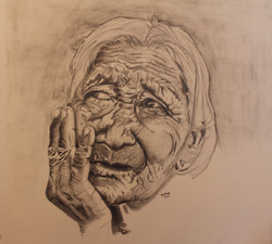 Lived in face - Old Indian woman 02.21.1