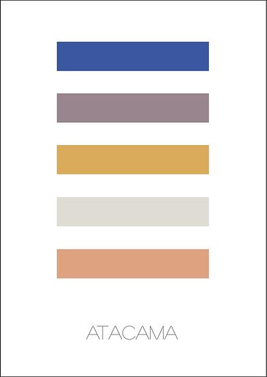 Poster Paleta Atacama