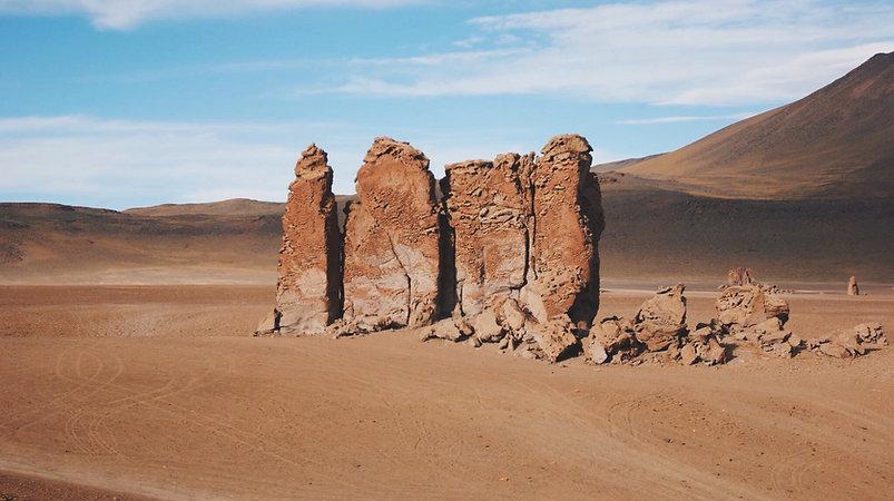 Monjes de la Pacana - Deserto do Atacama
