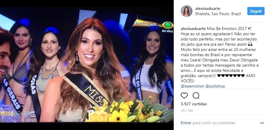 Instagram Miss Ceará 2017