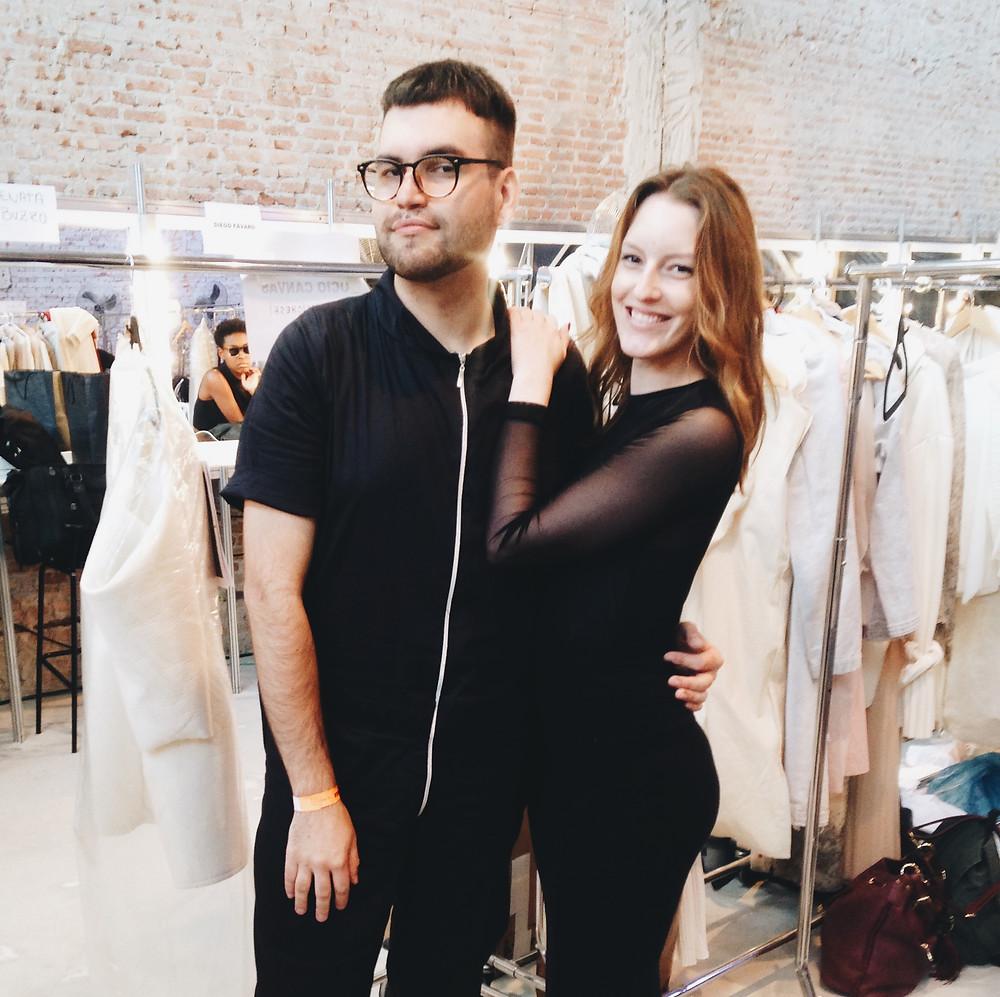 Diego Malicheski e Raquel Bloomfield, em São Paulo