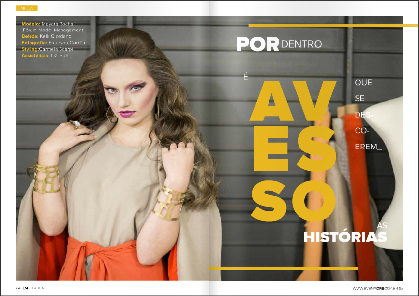 "Editorial ""Avesso"" - site Even More"